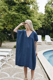 Amalfi Dress Navy