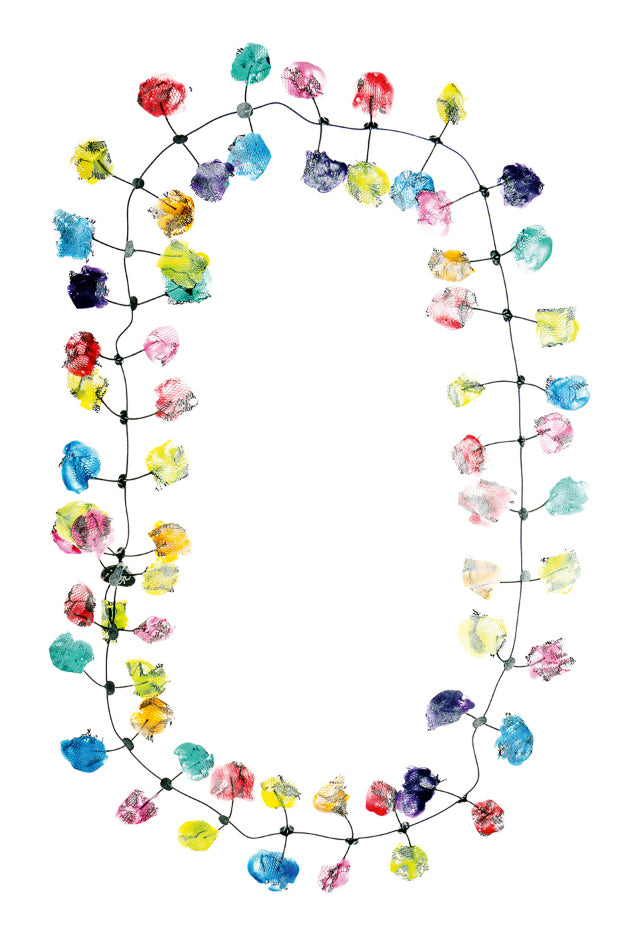 Annemieke Broenink Lace Necklace Happy