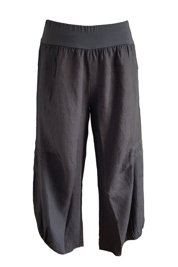 Kiitos Linen Pants Charcoal Grey