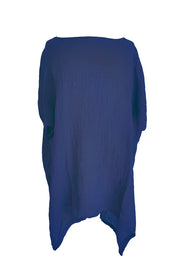 Kiitos Long Linen Gauze Top Ink Blue