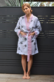 Nest Factory Block Print Robe Lotus
