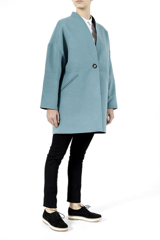 Daily Day Wednesday Coat Turquoise/Black