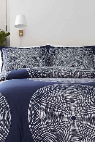 Marimekko Fokus US Sized Bedding Blue/White