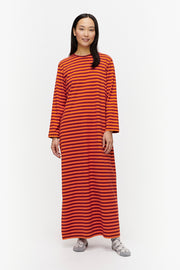 Marimekko Katju Gown Dark Red/Orange