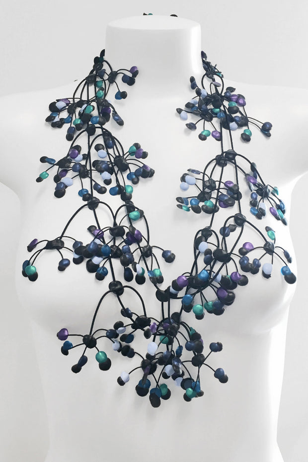 Annemieke Broenink Multi Dot Necklace Blue Mix