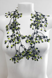 Annemieke Broenink Multi Dot Necklace Green Mix