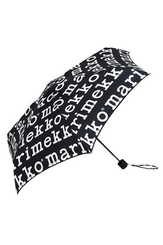 Marimekko Marilogo Mini Manual Umbrella Black/White