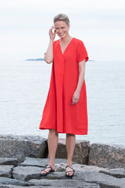 Ritva Falla Matilda Linen Dress Red Poppy