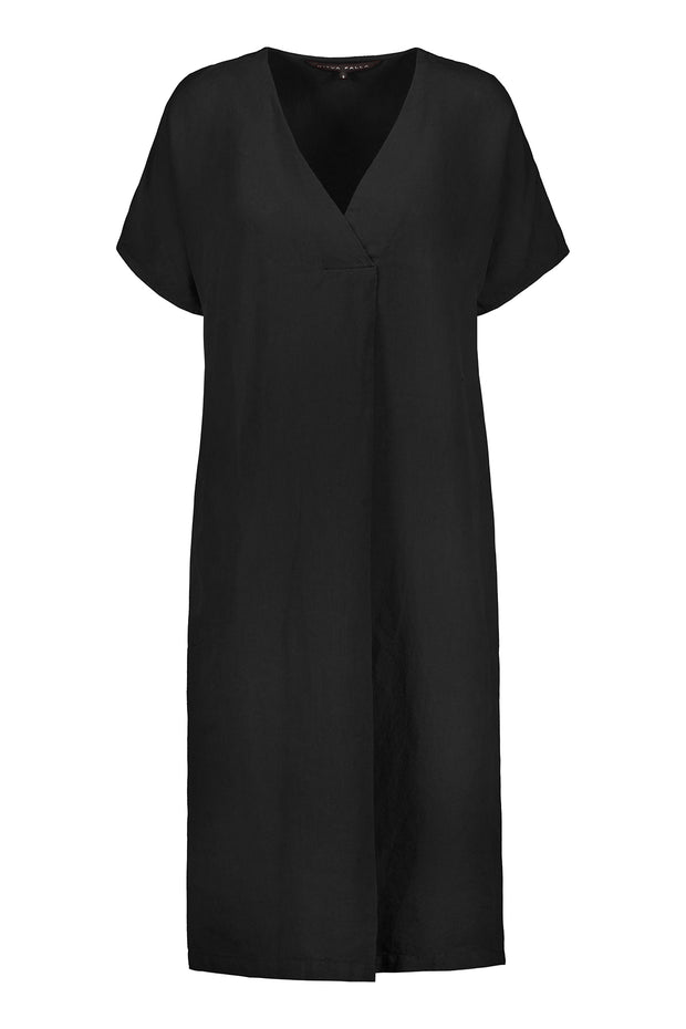 Ritva Falla Matilda Linen Dress Black
