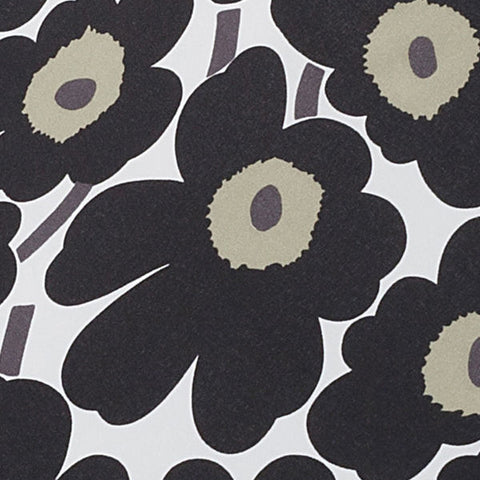 Marimekko Mini Unikko Mini Manual Umbrella Black/White