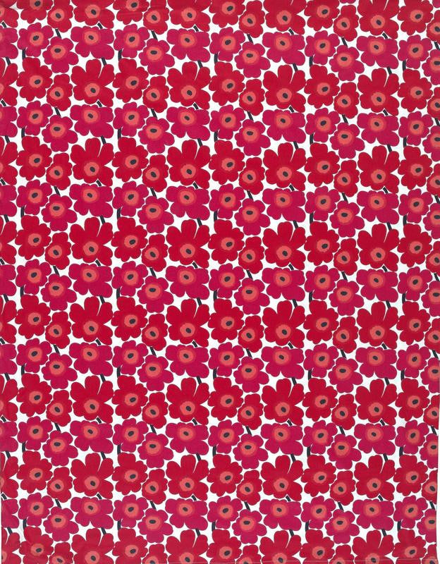 Marimekko Marimekko Mini Unikko Fabric Red/Pink/White - KIITOSlife - 1