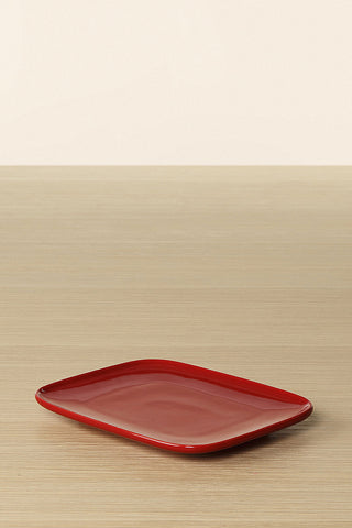 Marimekko Oiva Small Rectangular Plate Red