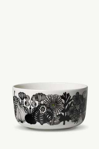 Marimekko Siirtolapuutarha Medium Bowl 5 DL White/Black/Green