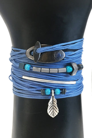 Mandy Campio Notch Wrap Bracelet Periwinkle