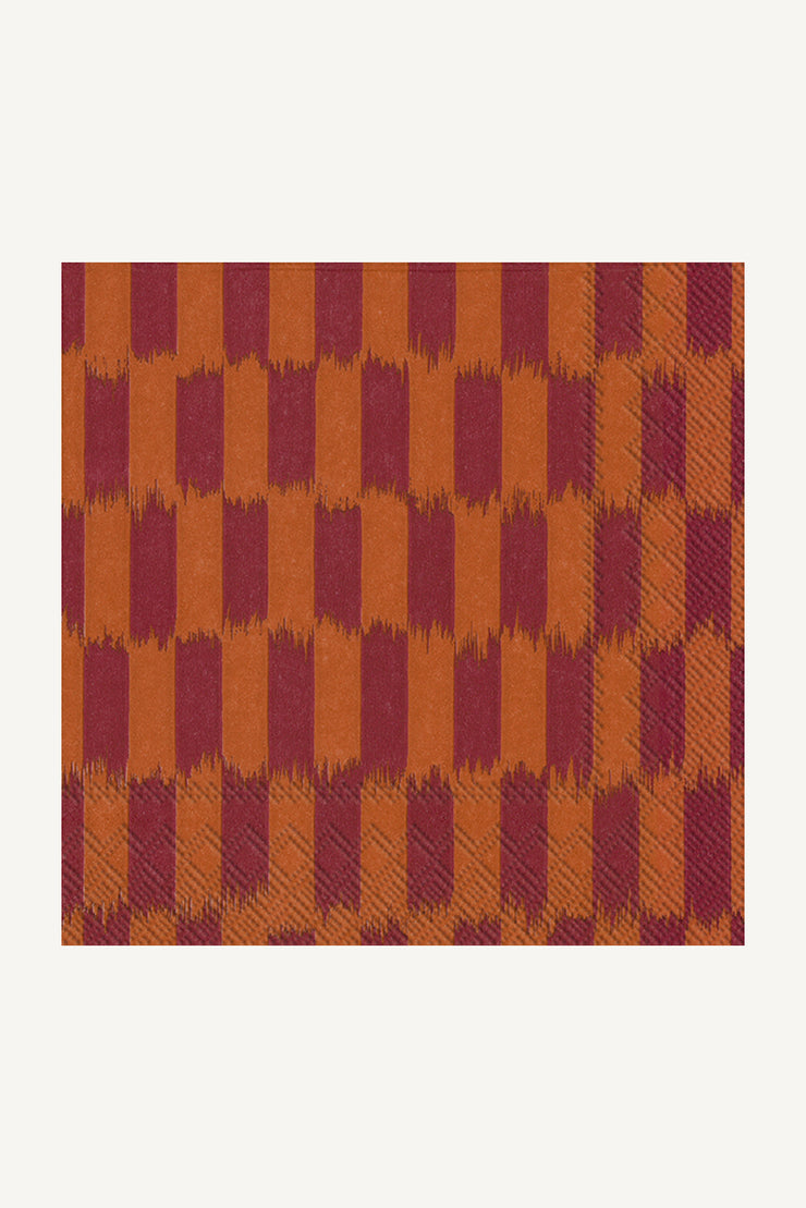 Marimekko Piekana Cocktail Napkins Terracotta