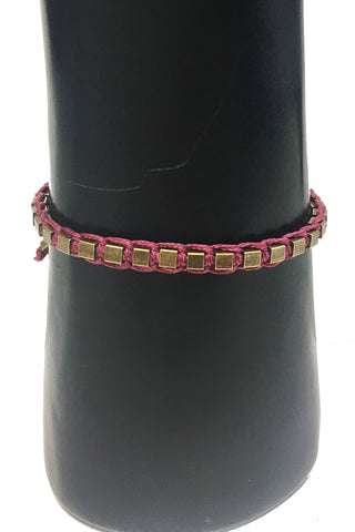 Mandy Campio Blocks Bracelet Plum