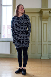 PaaPii Polku Sweatshirt Tunic Raanu Grey/Black