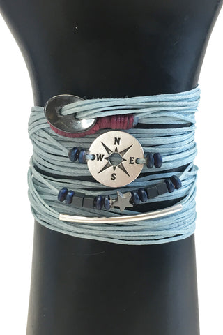 Mandy Campio Loop Wrap Bracelet Powder Blue