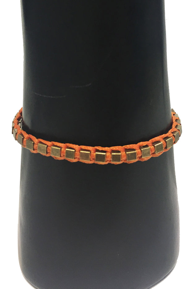 Mandy Campio Blocks Bracelet Pumpkin