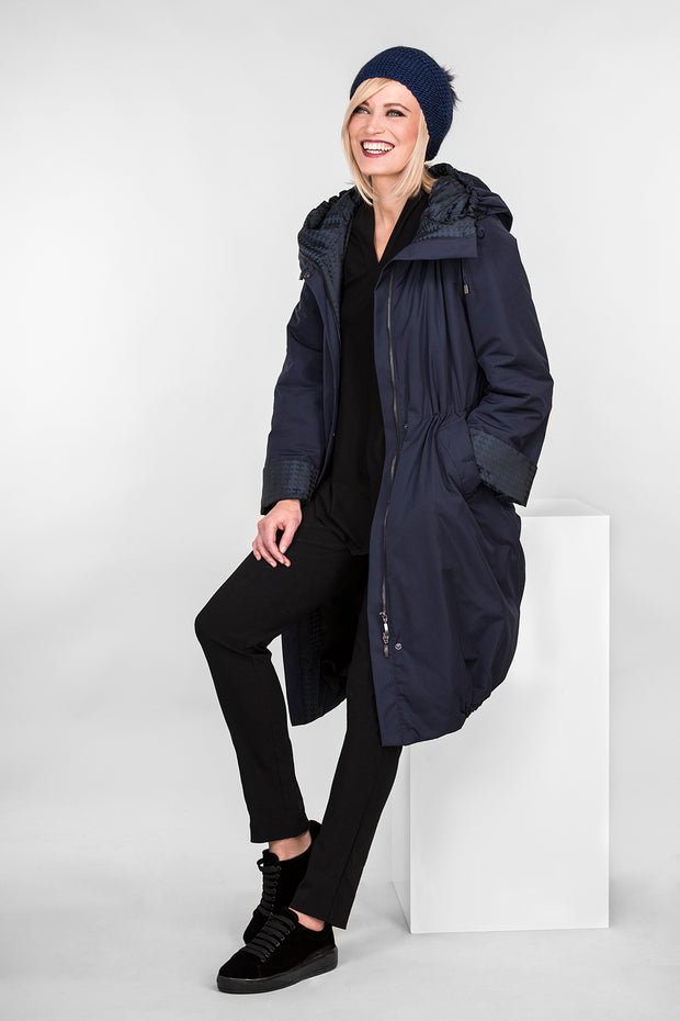 Ritva Falla Pallas Winter Coat Navy Blue