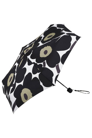 Marimekko Pieni Unikko Mini Manual Umbrella Black/White