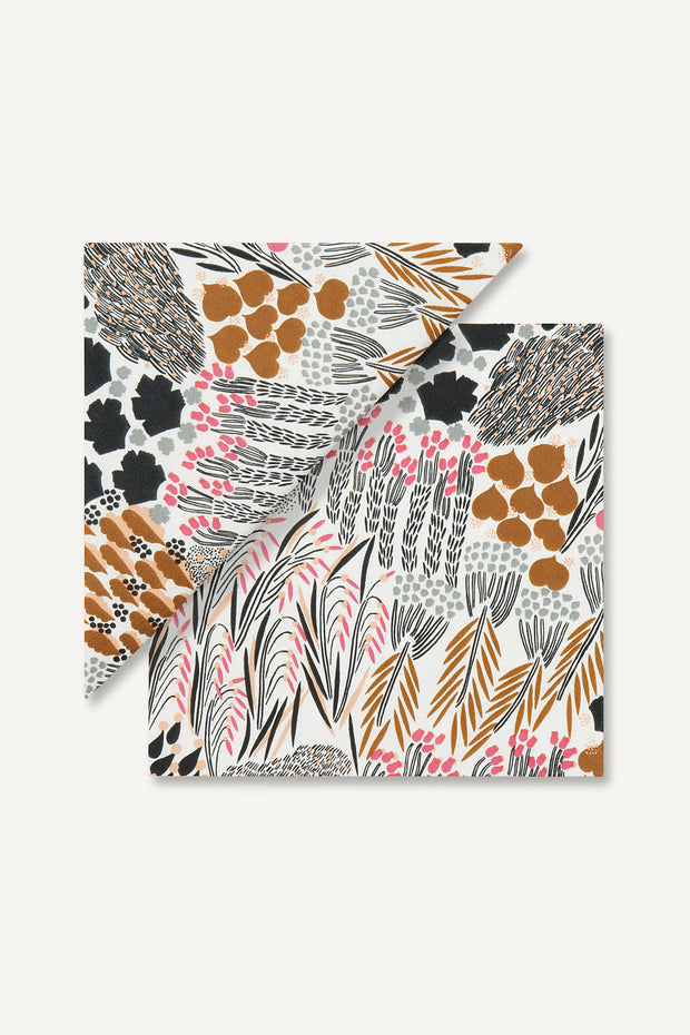 Marimekko Pieni Letto Paper Luncheon Napkins Brown
