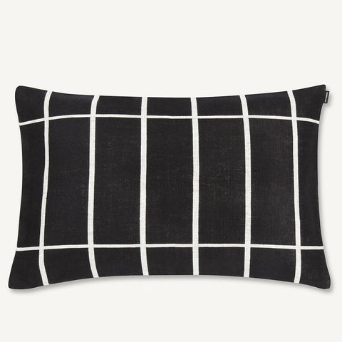 "Marimekko Tiiliskivi 16"" x 24"" Pillow Cover Black/White"
