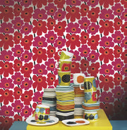 Marimekko Marimekko  Pieni Unikko Wallpaper Berry Red/Crimson Red - KIITOSlife - 2