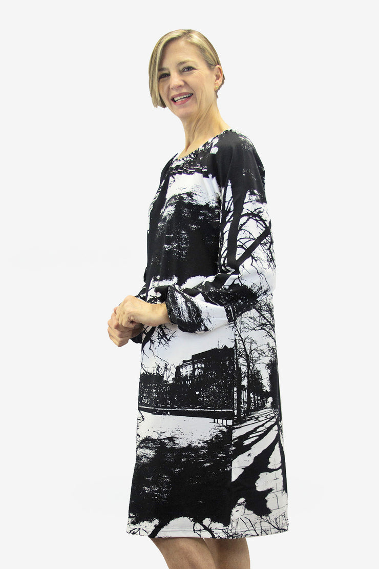 Ristomatti Ratia Espa Pilvi Dress Black/White