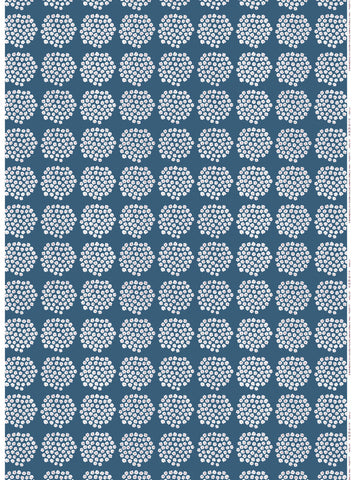 Marimekko Puketti Fabric Blue/Red/White