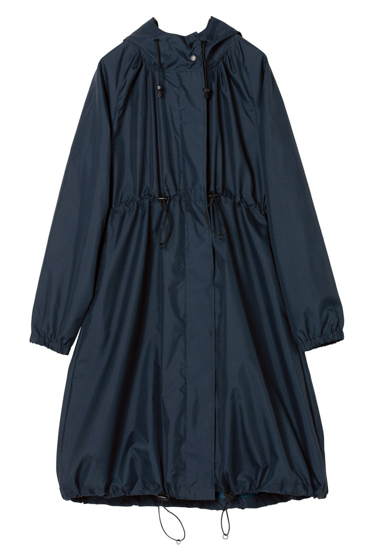 Long Mods Rain Coat Navy