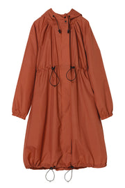 Long Mods Rain Coat Orange