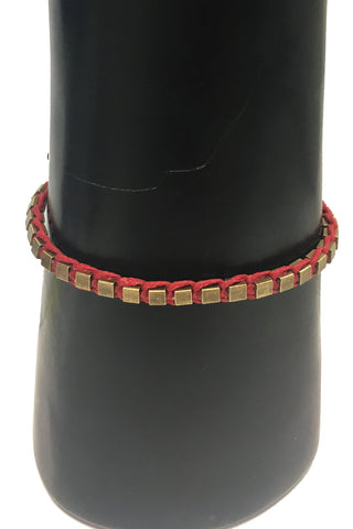 Mandy Campio Blocks Bracelet Red