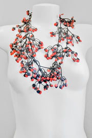 Annemieke Broenink Multi Dot Necklace Basic Red