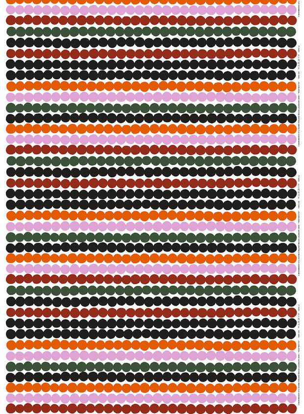Marimekko Marimekko Rasymatto Fabric White/Burnt Red/Green - KIITOSlife - 1