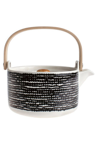 Marimekko Rasymatto Tea Pot Black/White