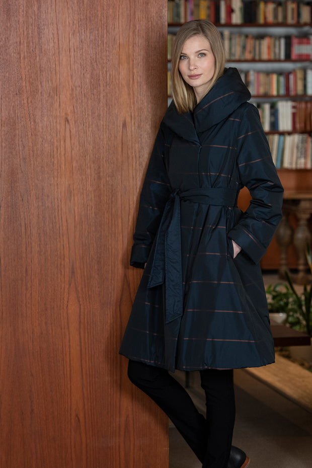 Ritva Falla Sophia Coat Navy/Copper
