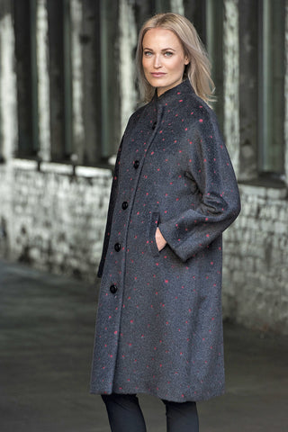 Ritva Falla Baba Coat Grey/Red