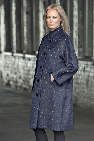 Ritva Falla Baba Coat Navy/Copper