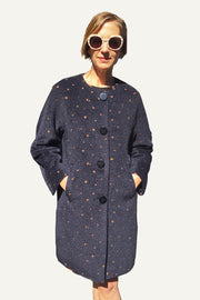 Ritva Falla Ciri Coat Navy/Copper