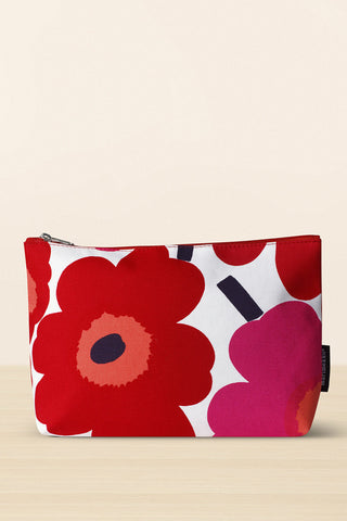 Marimekko Ruut Pieni Unikko Cosmetic Bag Red/White