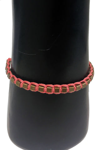 Mandy Campio Blocks Bracelet Salmon