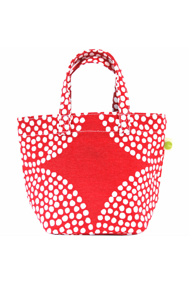 See Design See Design Mini Square Tote Bag Big Wheels Red/White - KIITOSlife
