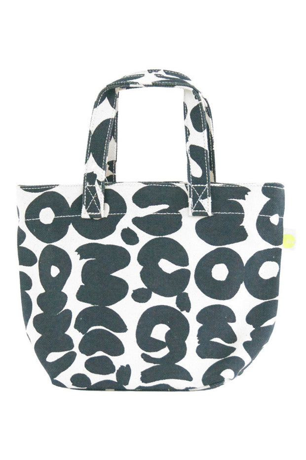 See Design See Design Mini Square Tote Bag Sake Coal/White - KIITOSlife