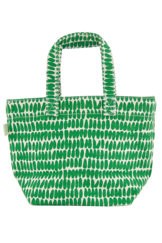See Design Mini Square Tote Bag Seeds Kelly/White