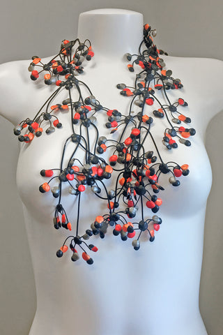 Annemieke Broenink Multi Dot Necklace Summer Red