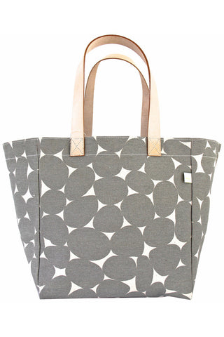 See Design Cube Tote Bag Stones Grey/White