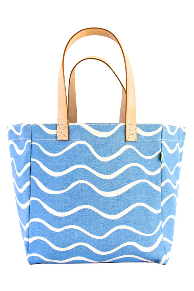 See Design See Design Cube Tote Bag Wave Turquoise/White - KIITOSlife
