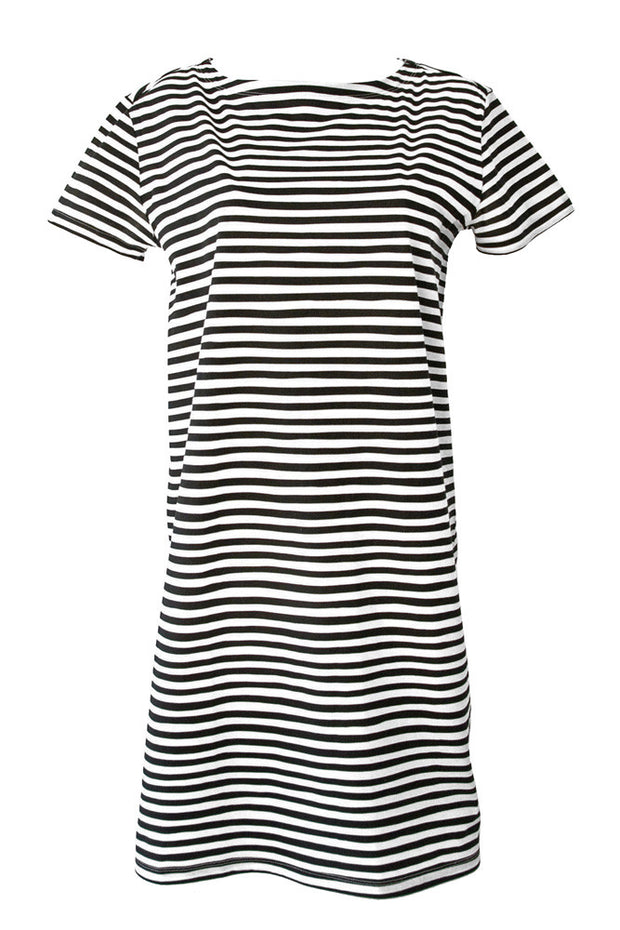 See Design See Design Karma Stripe Dress Black/White - KIITOSlife