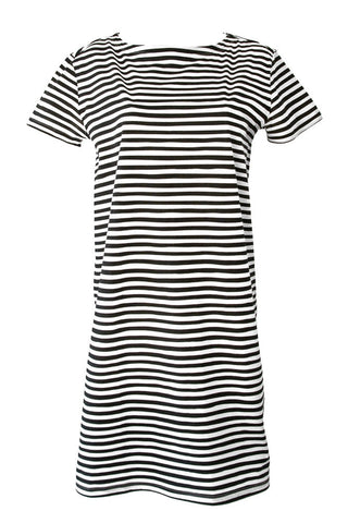 See Design Karma Stripe Dress Black/White